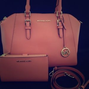 NEW MK Shoulder/Crossbody Bag and Wallet Set